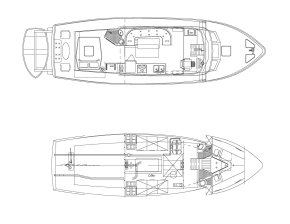 trawler yacht designers suggested top view